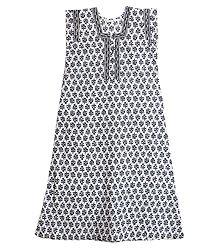 Shop Online Black and White Print on Cotton Maxi
