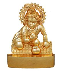 Metal Krishna for Car Dashboard