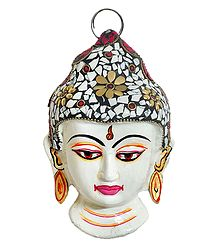 White Buddha Face