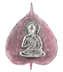 White Metal Buddha Statue - Wall Hanging