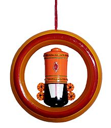 Balaji in Ring - Wooden Car Hanging