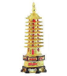 Chinese Pagoda - Plastic Showpiece