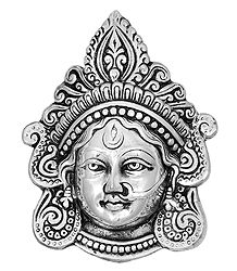 Metal Durga Face - Wall Hanging