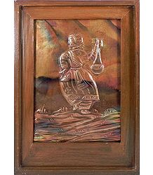 Baul Singer - Embossed Copper Artwork