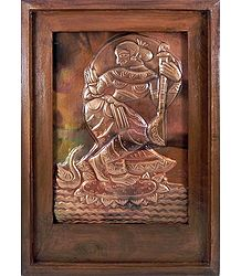 Goddess Saraswati - Wall Hanging
