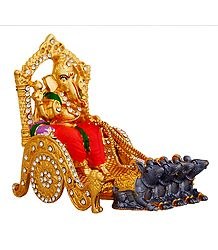Stone Studded Ganesha on Chariot