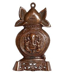 Ganesha on Kalash - Wall Hanging with Stand