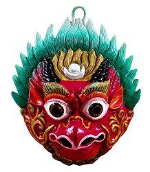 Garuda  - Wall Hanging White Metal Mask