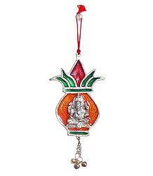 Ganesha on Kalash - Wall Hanging