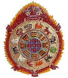 Buy Kalachakra - White metal Sculpture
