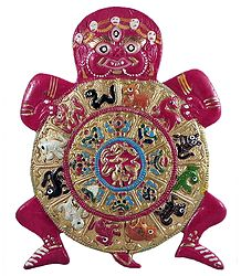 Kalachakra - White metal Sculpture
