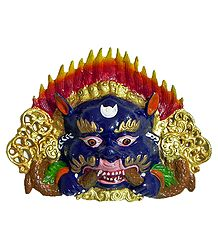 Kirtimukha - Wall Hanging Metal Mask