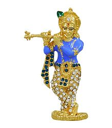 Stone Studded Krishna - For Car Dashboard