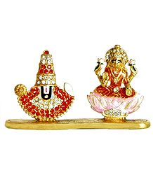 Metal Balaji and Lakshmi for Car Dashboard