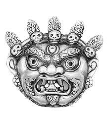 Mahakala, the Protector of Dharma - Metal Mask