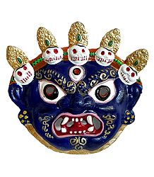 Wrathful Buddhist Deity Mahakala Mask