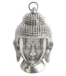 White Metal Buddha - Wall Hanging