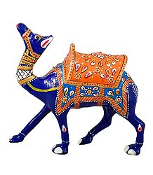 Colorful Royal Camel - Metal Statue