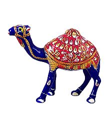 White Metal Multicolor Camel