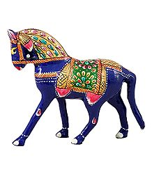 Colorful Royal Horse - Metal Statue
