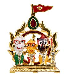 Jagannath,Balaram and Subhadra for Car Dashboard