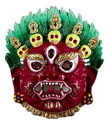 Mahakala, the Protector of Dharma - Metal Mask