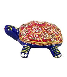Colorful Tortoise - Metal Statue
