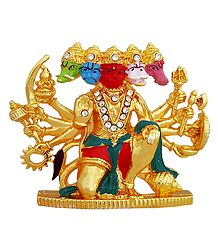 Stone Studded Panchamukhi Hanuman - For Car Dashboard