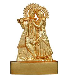 Metal Radha Krishna for Car Dashboard