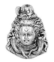 Wall Hanging Shiva Face - Metal Sculpture