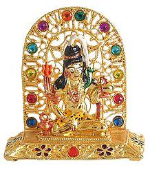 Metal Shiva for Car Dashboard