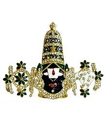 Gold Plated Metal Balaji for Car Dashboard
