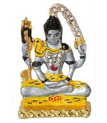 Metal Lord Shiva for Car Dashboard
