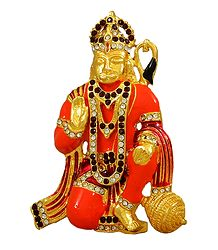 Stone Studded Hanuman Statue