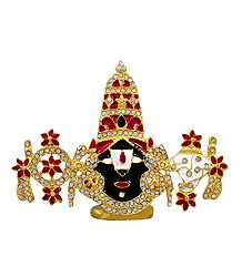 Stone Studded and Gold Plated Balaji