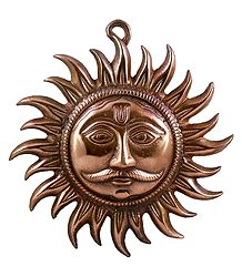 Sun God - Metal Wall Hanging