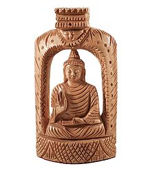 Meditating Wooden Buddha