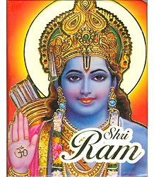 Miniature Shri Ram Book with Cover in Hindi with English Translation
