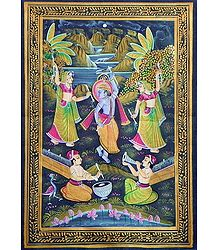 Krishna Dancing with Gopinis