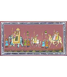 Miniature Painting on Silk - Buy Online