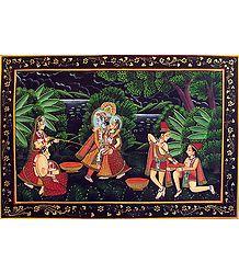 Radha Krishna Play Holi