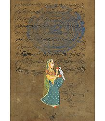 Ragini - Miniature Painting on Stamp Paper