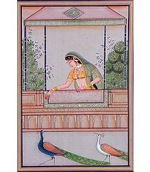 Raginin Madhu Madhavi - Miniature Painting on Silk