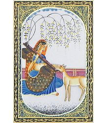 Ragini Todi - Miniature Painting on Silk
