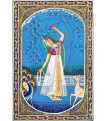 Ragini Vasanta - Miniature Painting on Silk