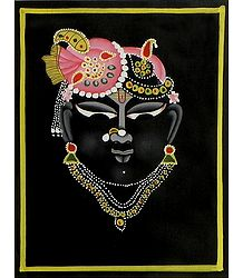 Sreenathji - Miniature Painting on Silk