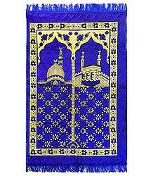 Blue Velvet Islamic Namaz Mat
