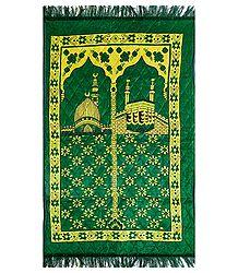 Buy Green Velvet Islamic Namaz Mat