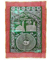 Green Mazar Chaddar with Red Border