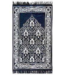 Reversible Blue Cotton Islamic Namaz Mat